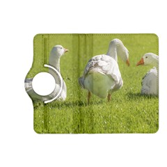 Group of White Geese Resting on the Grass Kindle Fire HD (2013) Flip 360 Case