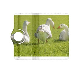 Group of White Geese Resting on the Grass Kindle Fire HDX 8.9  Flip 360 Case