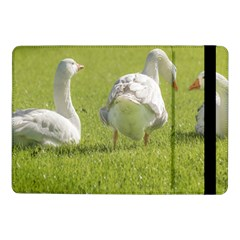 Group of White Geese Resting on the Grass Samsung Galaxy Tab Pro 10.1  Flip Case