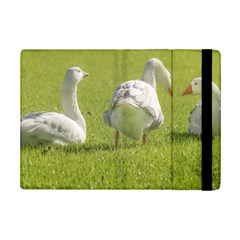 Group of White Geese Resting on the Grass iPad Mini 2 Flip Cases