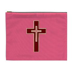 Red Christian cross Cosmetic Bag (XL)