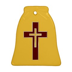 Red Christian Cross Ornament (bell)