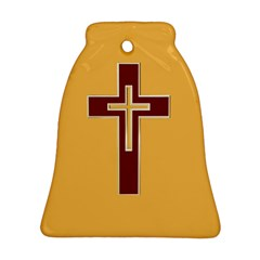 Red Christian cross Bell Ornament (Two Sides)