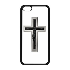 Red Christian cross Apple iPhone 5C Seamless Case (Black)