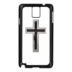 Red Christian cross Samsung Galaxy Note 3 N9005 Case (Black)