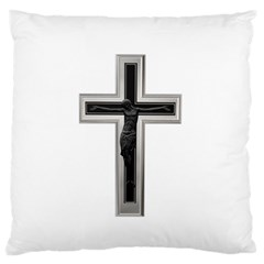 Red Christian cross Large Flano Cushion Case (Two Sides)