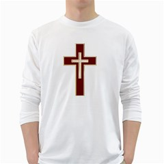 Red Christian Cross Long Sleeve T Shirt