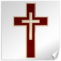 Red Christian cross Canvas 16  x 16