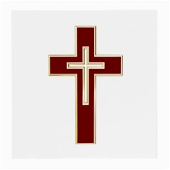 Red Christian cross Medium Glasses Cloth (2 Sides)
