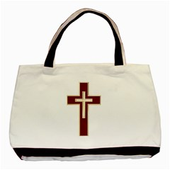 Red Christian cross Basic Tote Bag (Two Sides)