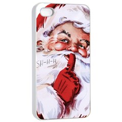 Christmas Santa Apple iPhone 4/4s Seamless Case (White)