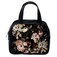 Dark Roses Classic Handbags (One Side)
