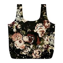 Dark Roses Full Print Recycle Bags (L)