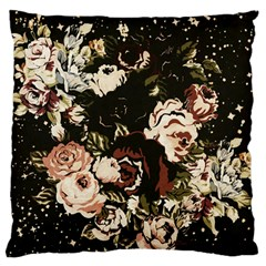 Dark Roses Large Flano Cushion Cases (Two Sides)