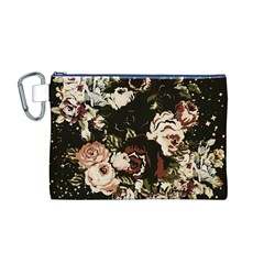 Dark Roses Canvas Cosmetic Bag (M)