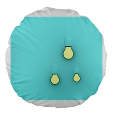 Bright Ideas Large 18  Premium Round Cushions