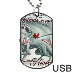 Lady Of The Fores Sts Dog Tag Usb Flash (two Sides)