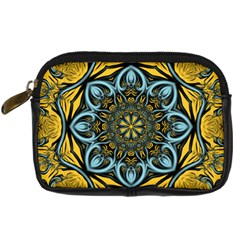 Blue floral fractal Digital Camera Cases