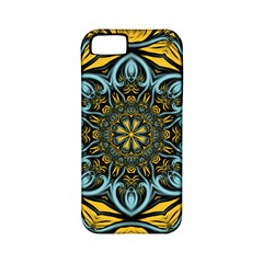 Blue floral fractal Apple iPhone 5 Classic Hardshell Case (PC+Silicone)