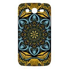 Blue floral fractal Samsung Galaxy Mega 5.8 I9152 Hardshell Case