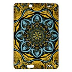Blue floral fractal Kindle Fire HD (2013) Hardshell Case