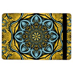 Blue Floral Fractal Ipad Air 2 Flip