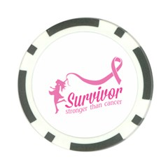 Survivor Stronger Than Cancer Pink Ribbon Poker Chip (10 Pack)