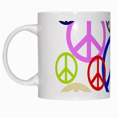 Peace Sign Collage Png White Coffee Mug
