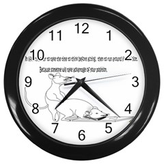 Better To Take Time To Think Wall Clocks (Black)