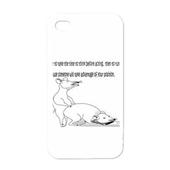 Better To Take Time To Think Apple iPhone 4 Case (White)