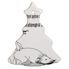 Better To Take Time To Think Christmas Tree Ornament (2 Sides)