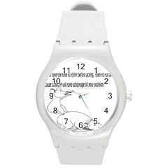 Better To Take Time To Think Round Plastic Sport Watch (M)