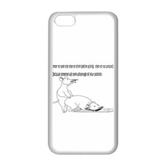 Better To Take Time To Think Apple iPhone 5C Seamless Case (White)