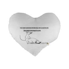 Better To Take Time To Think Standard 16  Premium Flano Heart Shape Cushions