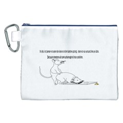 Better To Take Time To Think Canvas Cosmetic Bag (XXL)
