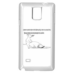Better To Take Time To Think Samsung Galaxy Note 4 Case (white)