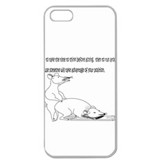 Better To Take Time To Think Apple Seamless iPhone 5 Case (Clear)