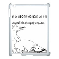 Better To Take Time To Think Apple iPad 3/4 Case (White)