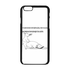 Better To Take Time To Think Apple Iphone 6/6s Black Enamel Case