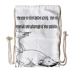 Better To Take Time To Think Drawstring Bag (Large)