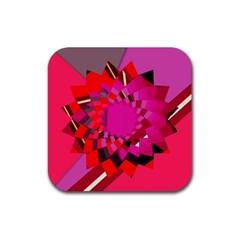 Geo Fun 11 Rubber Square Coaster (4 pack)