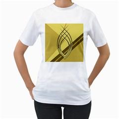 Geo Fun 12 Women s T-Shirt (White) (Two Sided)
