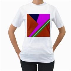 Geo Fun 13 Women s T-Shirt (White) (Two Sided)