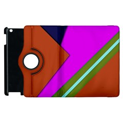 Geo Fun 13 Apple iPad 3/4 Flip 360 Case