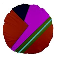 Geo Fun 13 Large 18  Premium Flano Round Cushions