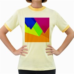 Geo Fun 15 Women s Fitted Ringer T Shirts