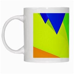 Geo Fun 15 White Mugs