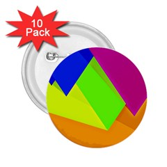 Geo Fun 15 2.25  Buttons (10 pack)