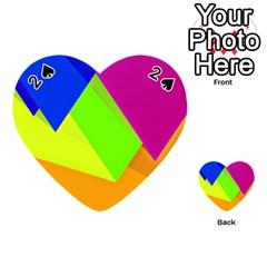 Geo Fun 15 Playing Cards 54 (heart)