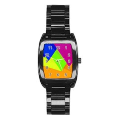 Geo Fun 15 Stainless Steel Barrel Watch